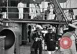 Image of Mexican federal warships at anchor during Mexican Revolution Veracruz Mexico, 1914, second 4 stock footage video 65675029267