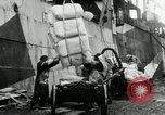 Image of Unloading flour bags from freighter  Archangel Russia, 1918, second 8 stock footage video 65675029275