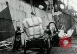 Image of Unloading flour bags from freighter  Archangel Russia, 1918, second 11 stock footage video 65675029275