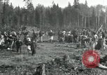 Image of Russian women work removing stumps Archangel Russia, 1918, second 4 stock footage video 65675029280