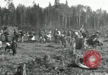 Image of Russian women work removing stumps Archangel Russia, 1918, second 6 stock footage video 65675029280