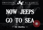 Image of amphibious jeeps United States USA, 1943, second 1 stock footage video 65675029285