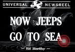 Image of amphibious jeeps United States USA, 1943, second 3 stock footage video 65675029285