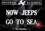 Image of amphibious jeeps United States USA, 1943, second 4 stock footage video 65675029285
