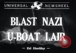 Image of Nazi U-Boats Lorient Germany, 1943, second 1 stock footage video 65675029289