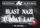 Image of Nazi U-Boats Lorient Germany, 1943, second 2 stock footage video 65675029289