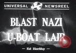 Image of Nazi U-Boats Lorient Germany, 1943, second 4 stock footage video 65675029289