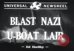 Image of Nazi U-Boats Lorient Germany, 1943, second 5 stock footage video 65675029289