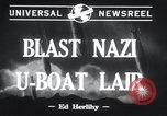 Image of Nazi U-Boats Lorient Germany, 1943, second 6 stock footage video 65675029289