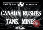 Image of tank mines Canada, 1943, second 1 stock footage video 65675029290
