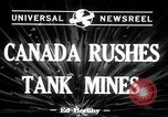 Image of tank mines Canada, 1943, second 5 stock footage video 65675029290
