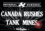Image of tank mines Canada, 1943, second 6 stock footage video 65675029290
