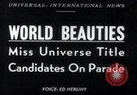 Image of Miss Universe contestants California United States USA, 1952, second 1 stock footage video 65675029295