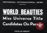 Image of Miss Universe contestants California United States USA, 1952, second 2 stock footage video 65675029295