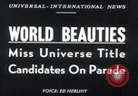 Image of Miss Universe contestants California United States USA, 1952, second 3 stock footage video 65675029295