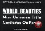 Image of Miss Universe contestants California United States USA, 1952, second 4 stock footage video 65675029295