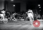 Image of Bicycle polo Austria, 1952, second 7 stock footage video 65675029296