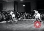Image of Bicycle polo Austria, 1952, second 8 stock footage video 65675029296
