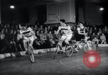 Image of Bicycle polo Austria, 1952, second 10 stock footage video 65675029296