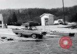 Image of Amphicar testing the U.S. Long Island New York USA, 1960, second 12 stock footage video 65675029308