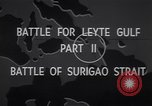 Image of Naval battle in the Surigao Strait Leyte Philippines, 1946, second 6 stock footage video 65675029331
