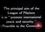 Image of Preamble to League's Covenant Geneva Switzerland, 1926, second 12 stock footage video 65675029354