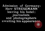 Image of Herr Stresemann Geneva Switzerland, 1926, second 3 stock footage video 65675029362