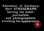 Image of Herr Stresemann Geneva Switzerland, 1926, second 7 stock footage video 65675029362