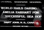 Image of Amelia Earhart Saint John New Brunswick, 1932, second 1 stock footage video 65675029416