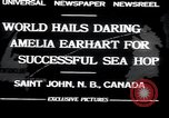 Image of Amelia Earhart Saint John New Brunswick, 1932, second 2 stock footage video 65675029416