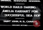 Image of Amelia Earhart Saint John New Brunswick, 1932, second 3 stock footage video 65675029416