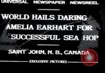 Image of Amelia Earhart Saint John New Brunswick, 1932, second 5 stock footage video 65675029416