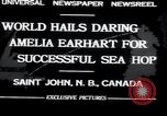 Image of Amelia Earhart Saint John New Brunswick, 1932, second 8 stock footage video 65675029416