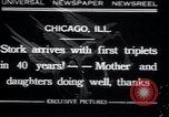 Image of triplets Chicago Illinois USA, 1932, second 1 stock footage video 65675029419