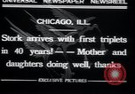 Image of triplets Chicago Illinois USA, 1932, second 2 stock footage video 65675029419