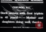 Image of triplets Chicago Illinois, 1932, second 4 stock footage video 65675029419