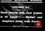 Image of triplets Chicago Illinois USA, 1932, second 7 stock footage video 65675029419