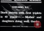 Image of triplets Chicago Illinois USA, 1932, second 9 stock footage video 65675029419