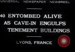 Image of collapsed building Lyon France, 1932, second 1 stock footage video 65675029422