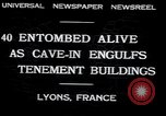 Image of collapsed building Lyon France, 1932, second 5 stock footage video 65675029422