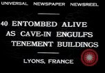 Image of collapsed building Lyon France, 1932, second 6 stock footage video 65675029422