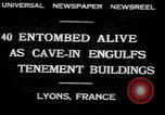 Image of collapsed building Lyon France, 1932, second 7 stock footage video 65675029422