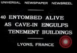 Image of collapsed building Lyon France, 1932, second 8 stock footage video 65675029422