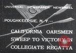 Image of college rowing competition Poughkeepsie New York USA, 1932, second 1 stock footage video 65675029423