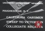Image of college rowing competition Poughkeepsie New York USA, 1932, second 2 stock footage video 65675029423