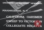 Image of college rowing competition Poughkeepsie New York USA, 1932, second 3 stock footage video 65675029423
