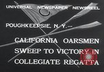 Image of college rowing competition Poughkeepsie New York USA, 1932, second 5 stock footage video 65675029423