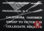 Image of college rowing competition Poughkeepsie New York USA, 1932, second 7 stock footage video 65675029423