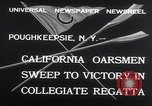 Image of college rowing competition Poughkeepsie New York USA, 1932, second 8 stock footage video 65675029423