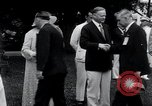 Image of war veterans greet Hoover Washington DC USA, 1932, second 9 stock footage video 65675029426